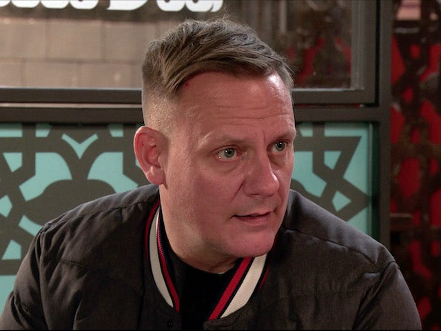 Sean on the second episode of Coronation Street on January 18, 2021