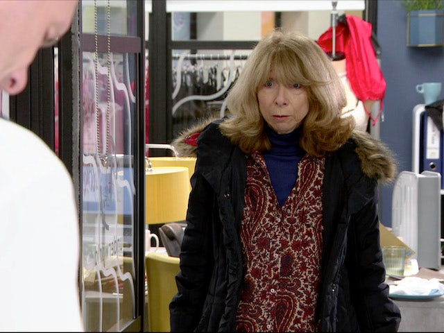 Gail on the first episode of Coronation Street on January 20, 2021