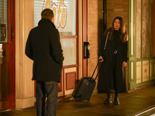 Carla and Peter on Coronation Street on January 29, 2021