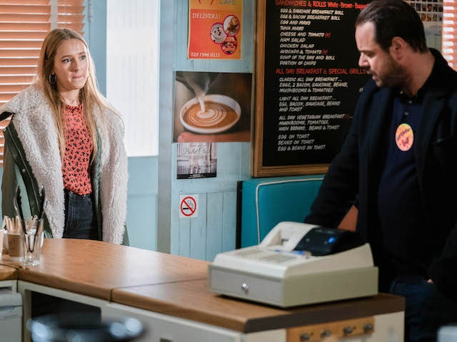 Frankie and Mick on EastEnders on January 19, 2021