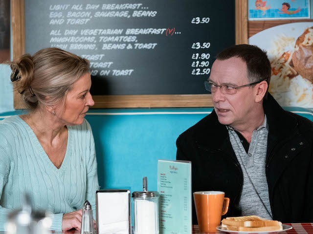 Kathy and Ian on EastEnders on January 18, 2021