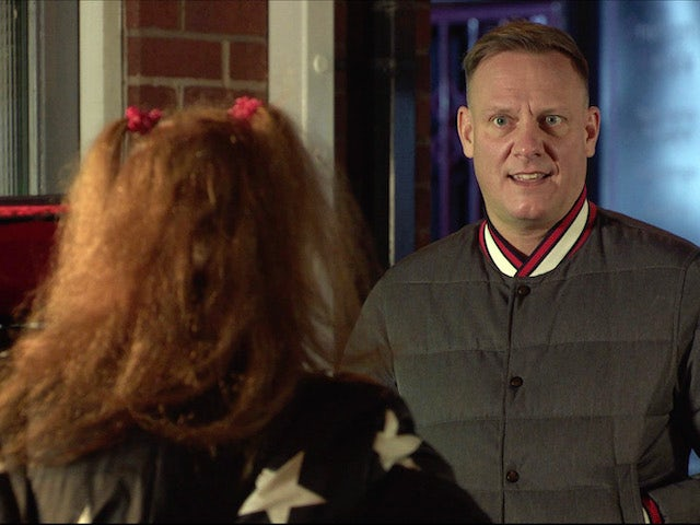 Sean on Coronation Street on January 22, 2021