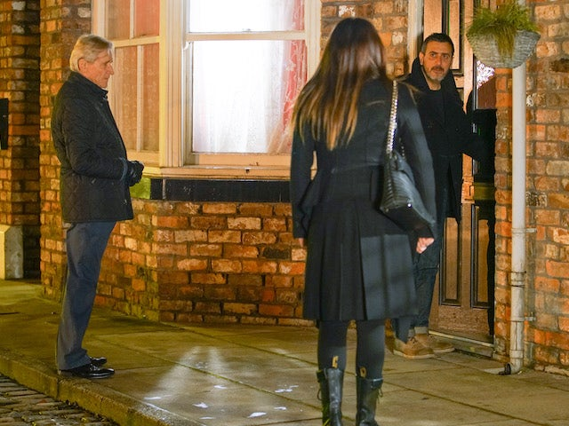 Ken, Peter and Carla on the second episode of Coronation Street on January 27, 2021