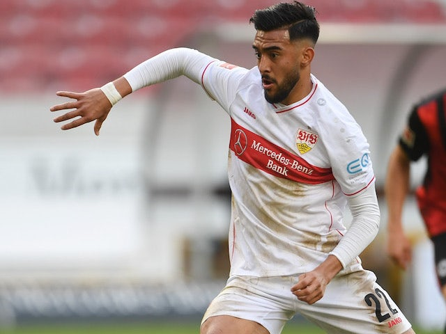 Nicolas Gonzalez in action for Stuttgart on November 7, 2020