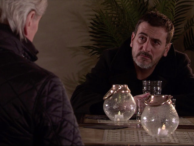 Peter and Ken on the second episode of Coronation Street on January 27, 2021