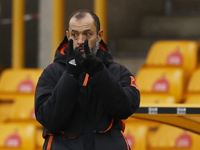 Wolverhampton Wanderers manager Nuno Espirito Santo pictured on January 16, 2021
