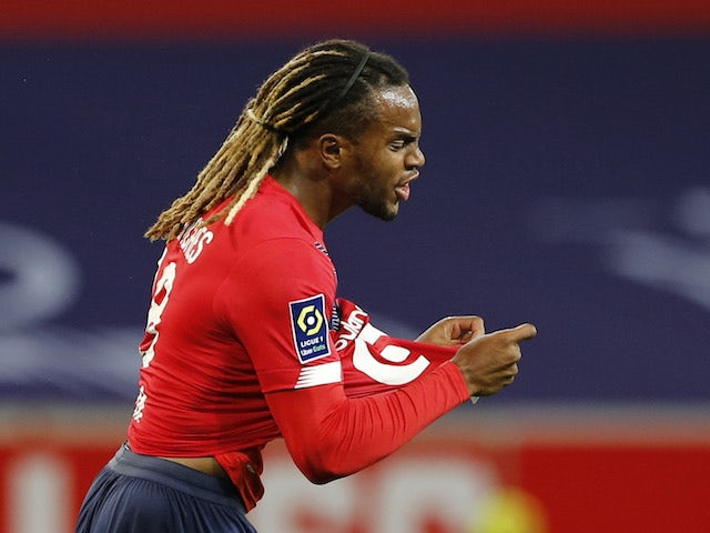 Renato Sanches in action for Lille on November 1, 2020
