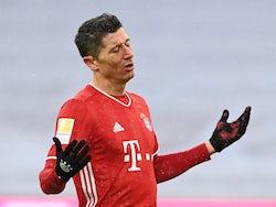 Bayern Munich's Robert Lewandowski reacts on January 17, 2021