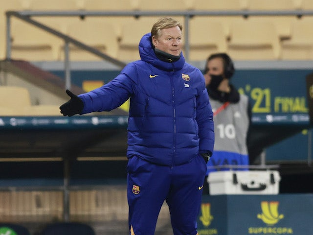 Barcelona manager Ronald Koeman pictured on January 17, 2021