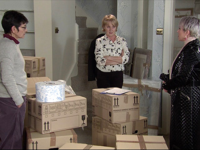 Yasmeen, Sally and Debbie on the first episode of Coronation Street on January 25, 2021