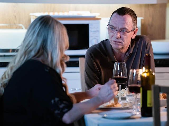 Sharon and Ian on EastEnders on January 22, 2021