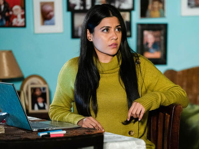 Iqra on EastEnders on January 19, 2021