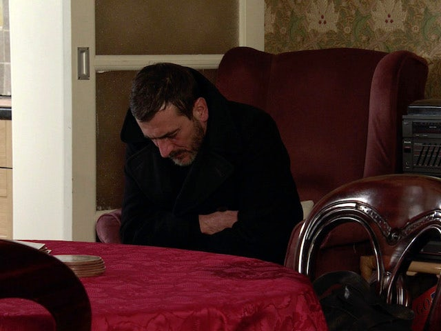 Peter on the second episode of Coronation Street on February 1, 2021