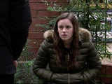 Faye on the first episode of Coronation Street on January 18, 2021