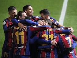 Barcelona's Frenkie de Jong celebrates scoring against Real Sociedad in the Spanish Super Cup on January 13, 2021