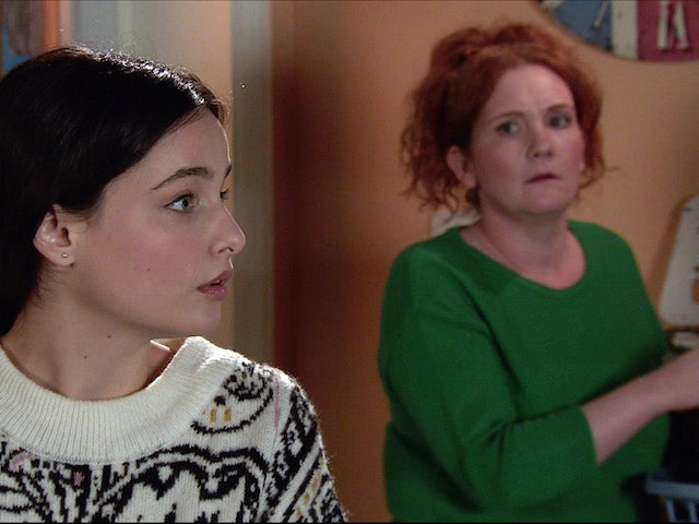 Alina and Fiz on the second episode of Coronation Street on February 3, 2021