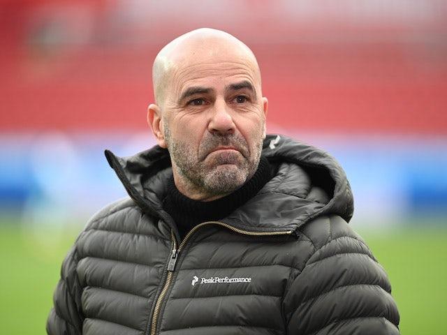 Bayer Leverkusen coach Peter Bosz before the match on January 23, 2021