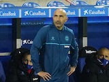 Alaves coach Abelardo Fernandez pictured on January 23, 2021