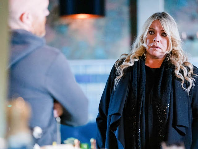 Sharon and Max on EastEnders on February 1, 2021