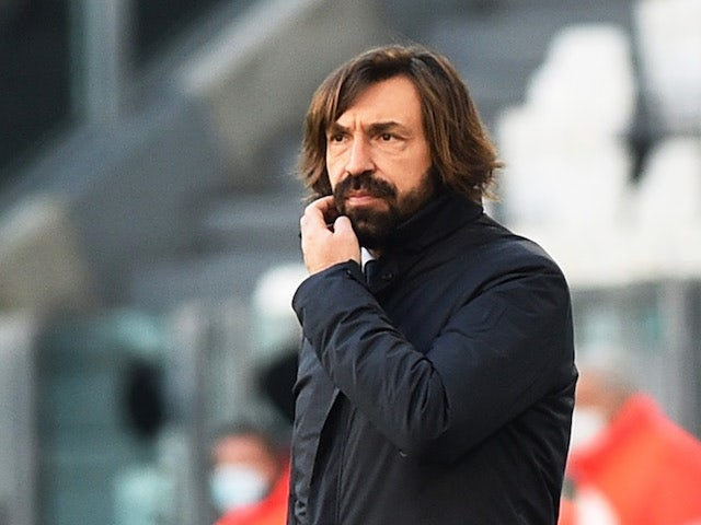 Juventus head coach Andrea Pirlo pictured on January 24, 2021
