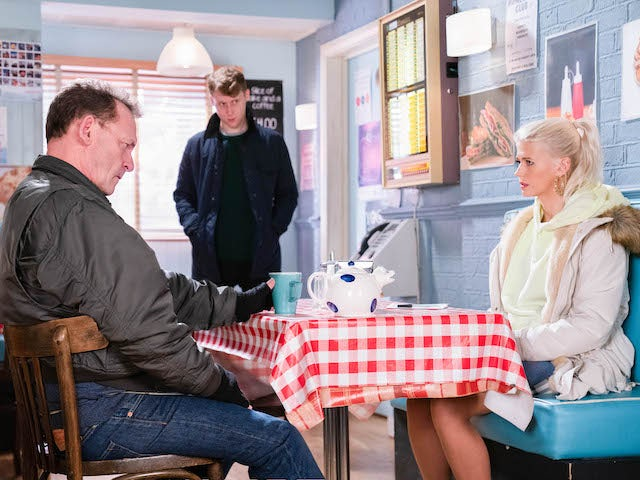 Billy, Jay and Lola on EastEnders on January 29, 2021