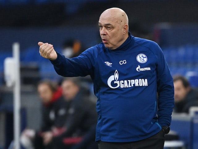 Schalke 04 coach Christian Gross pictured on January 24, 2021