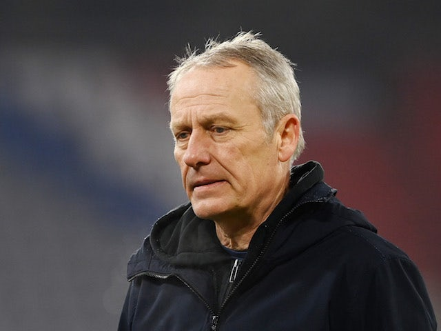 Freiburg head coach Christian Streich pictured on January 17, 2021