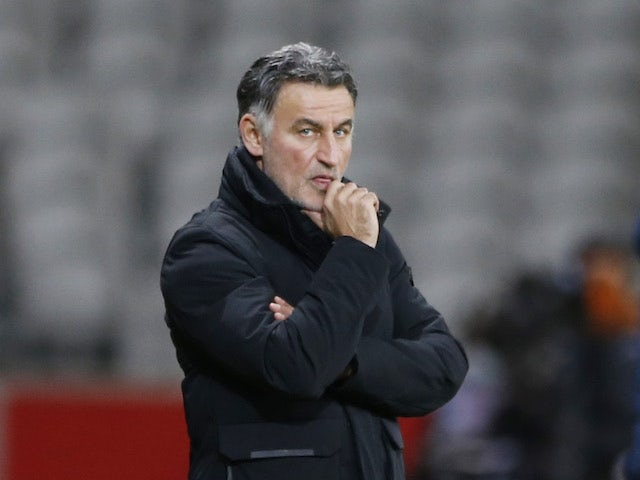 Lille head coach Christophe Galtier pictured in January 2021