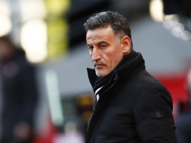 Lille coach Christophe Galtier pictured on January 24, 2021