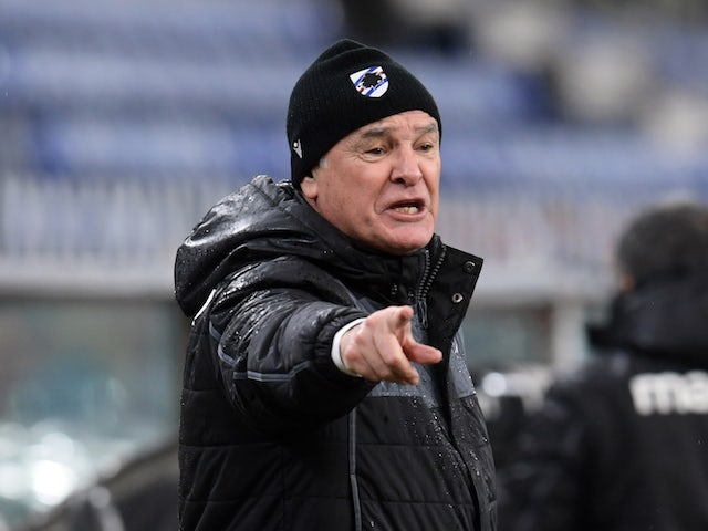 Sampdoria manager Claudio Ranieri pictured in January 2021