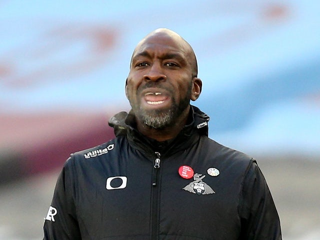 Doncaster Rovers manager Darren Moore pictured on January 23, 2021