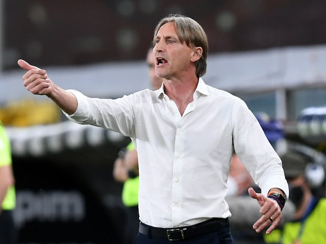 Davide Nicola, now in charge of Torino, pictured in June 2020