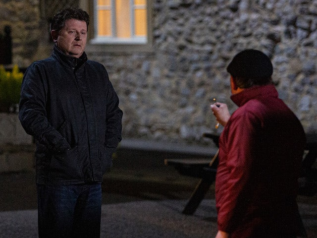Paul and Connor on the second episode of Emmerdale on February 4, 2021