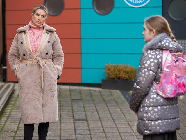 Mandy and Ella on Hollyoaks on January 28, 2021