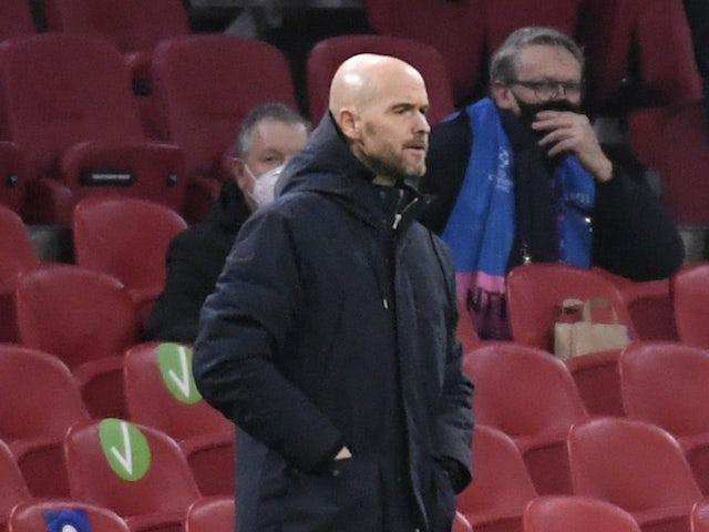 Ajax manager Erik Ten Hag pictured in December 2020