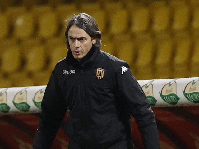 Benevento manager Filippo Inzaghi pictured in January 2021