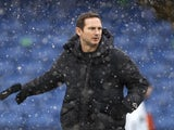 Chelsea manager Frank Lampard pictured on January 24, 2021