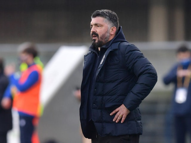 Napoli manager Gennaro Gattuso pictured on January 24, 2021