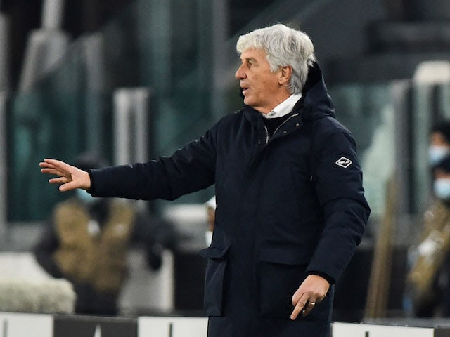 Atalanta manager Gian Piero Gasperini pictured in December 2020