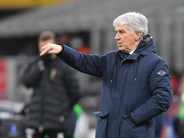 Atalanta coach Gian Piero Gasperini during the match on January 23, 2021