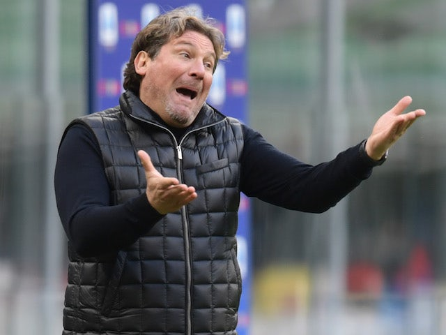 Crotone manager Giovanni Stroppa pictured in January 2021