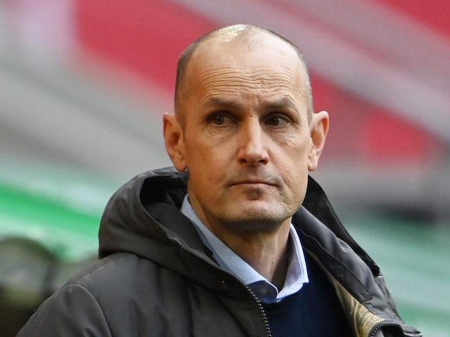 FC Augsburg coach Heiko Herrlich before the match on January 23, 2021