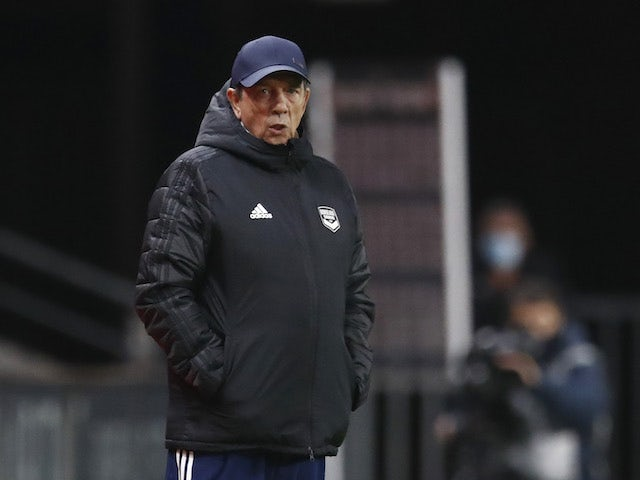 Bordeaux manager Jean-Louis Gasset pictured in November 2020