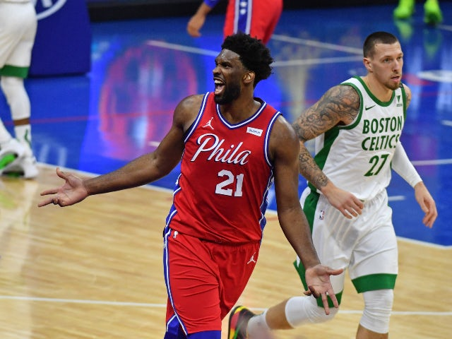 NBA roundup: Joel Embiid inspires 76ers to victory over Celtics