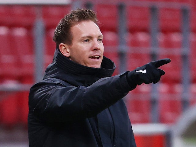 RB Leipzig coach Julian Nagelsmann pictured on January 23, 2021