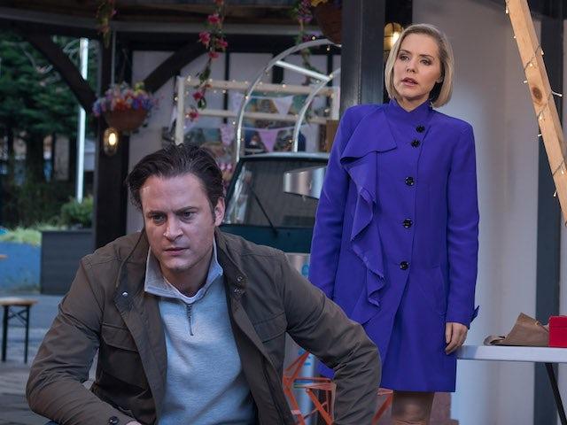 Cindy and Luke on Hollyoaks on February 2, 2021