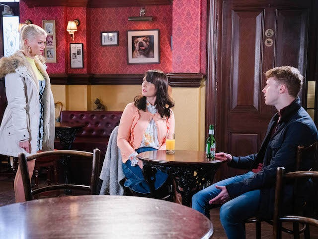 Lola, Honey and Jay on EastEnders on January 26, 2021
