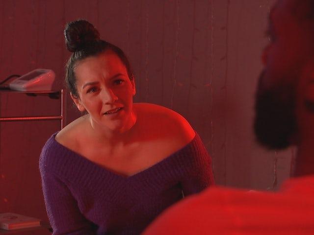 Cleo on Hollyoaks on February 5, 2021