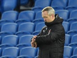 Blackpool manager Neil Critchley looks at his watch on January 23, 2021
