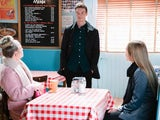 Jed, Linda and Frankie on EastEnders on January 25, 2021